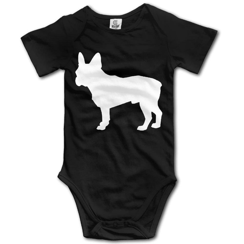 braeccesuit French Bulldog Infant Baby Boys Girls Infant Creeper Short Sleeves Onesie Romper Jumpsuit