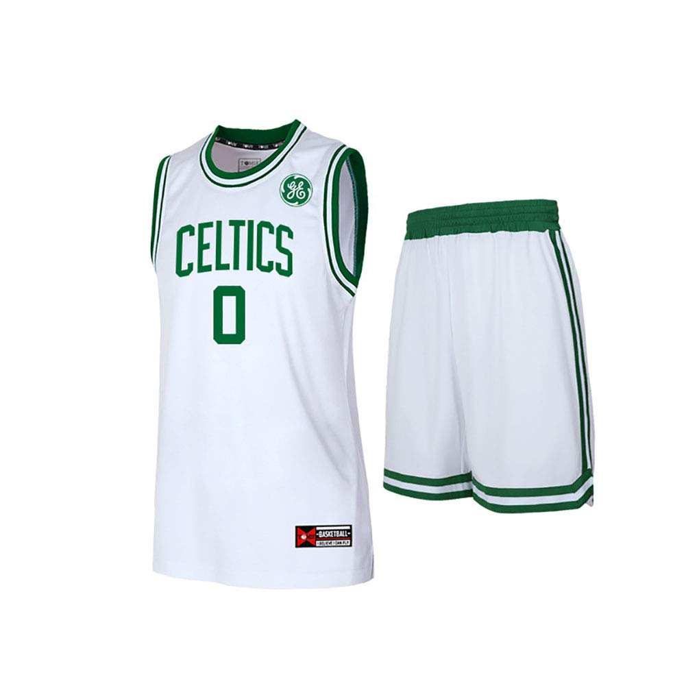 DGSFES Herren Basketball Trikots Tatum Herren Green Celtics Swingman Trikot Hemd Four Seasons Universal Vests Sleevless Tops