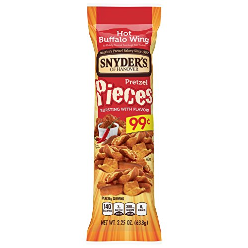 Snyder's of Hanover Pretzel Pieces, Hot Buffalo Wing, 2.25 Ounce (Pack of 60)