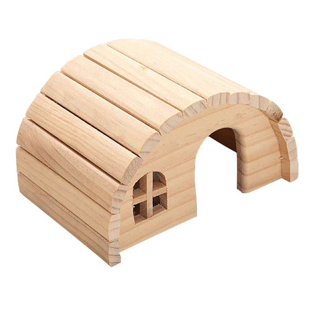 Hamster Houses and hideouts Large, Hamster Houses Wood, Hamster Pet Molar Toy Accompany, Pet Nest Villa, Creative Christmas, Pet Supplies,Pet cage,Natural Living Mat House