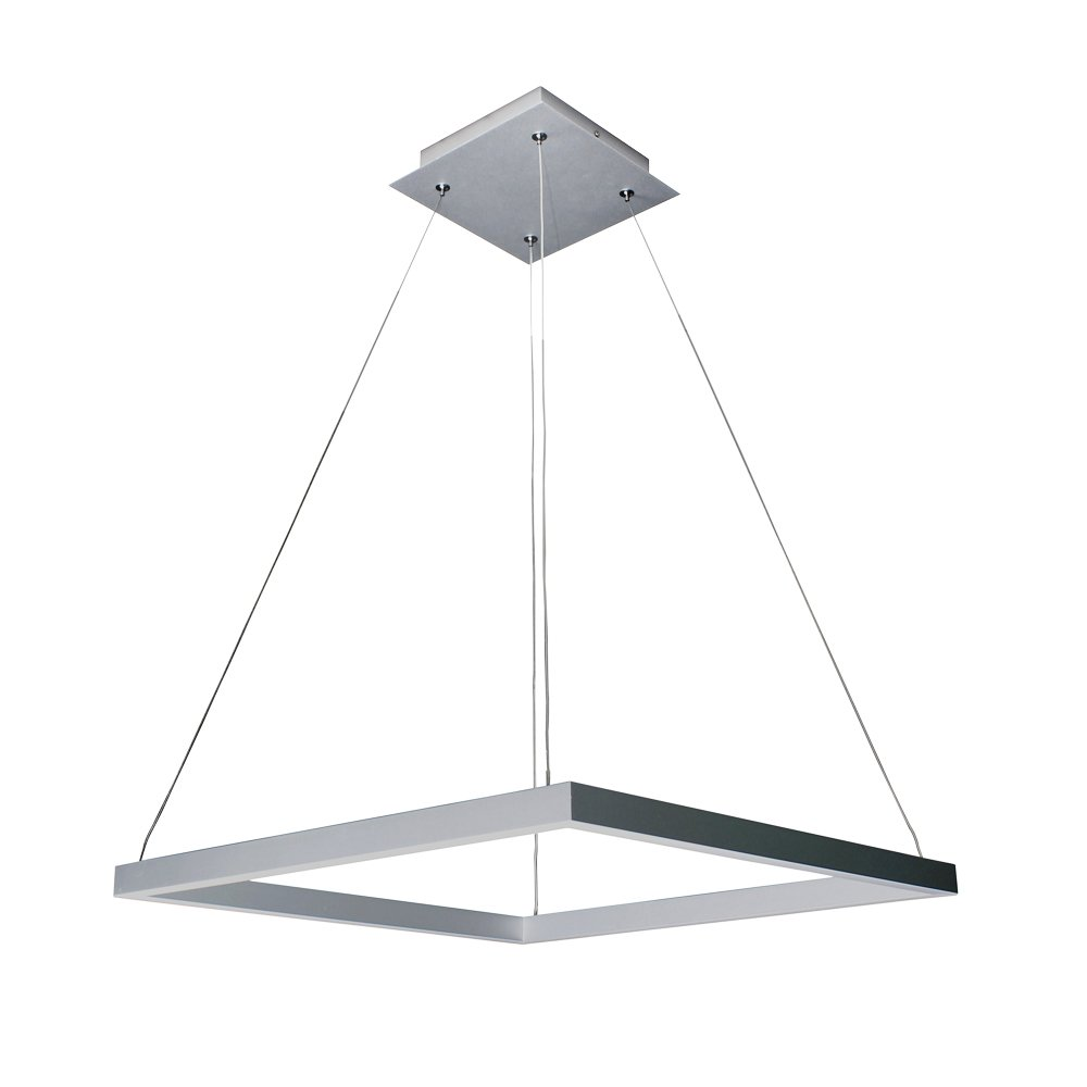 Vonn vmc31620al modern square led chandelier lighting with vonn vmc31620al modern square led chandelier lighting with adjustable hanging light silver amazon arubaitofo Choice Image