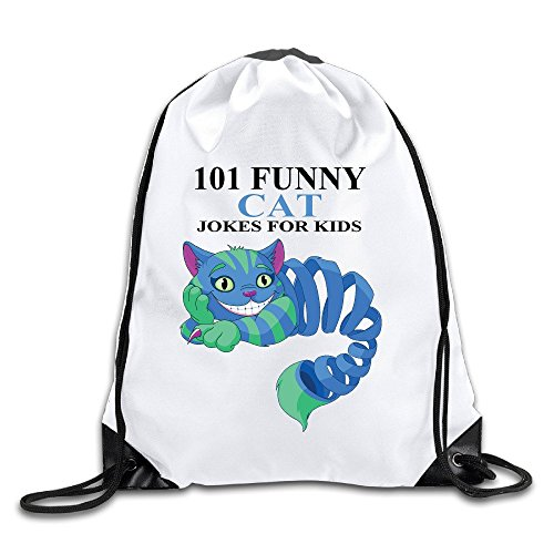 Funny Cat Jokes For Kids Lightweight Drawstring Bags Backpack White Size One Size (Arbor String Lights)