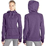 HEAD Women's High Altitude Rib Mix Hoodie, BlackBerry Cordial Heather, X-Small