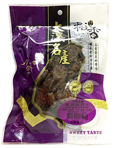 Yu Hsiang Daxi Dried Bean Curd Black Pepper Flavor 5.2 oz x3pk