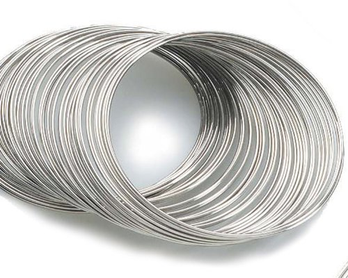 Beading Station 80-Circle Silvertone Bracelet Rigid Steel Memory Beading Wire for Jewelry (Rigid Wire)