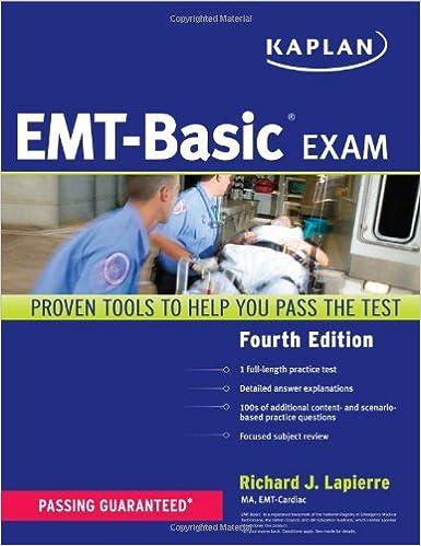 Kaplan EMT-Basic Exam (Kaplan Test Prep): 9781419550225: Medicine ...