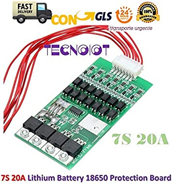 TECNOIOT 7S 20A Li-Ion Lithium Battery BMS PCB 18650 Charger ...