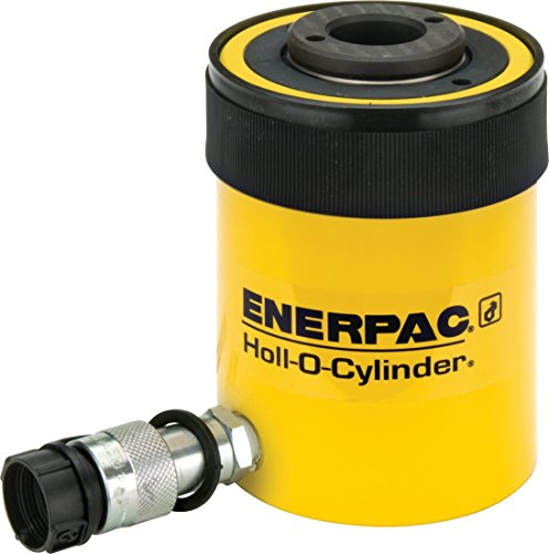 Enerpac Hydraulic Jack - Enerpac RCH-202 Single-Acting Hollow-Plunger Hydraulic Cylinder with 20 Ton Capacity, Single Port, 2.00