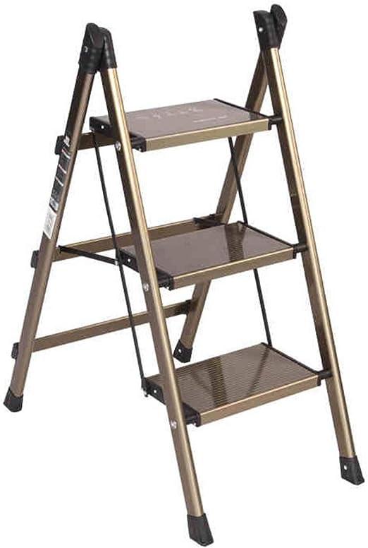 Escalera plegable taburete banqueta Escalera de Aluminio para ...