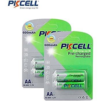 Amazon.com: 8 Piece Set AA Ni-mh 600mah 1.2v Rechargeable
