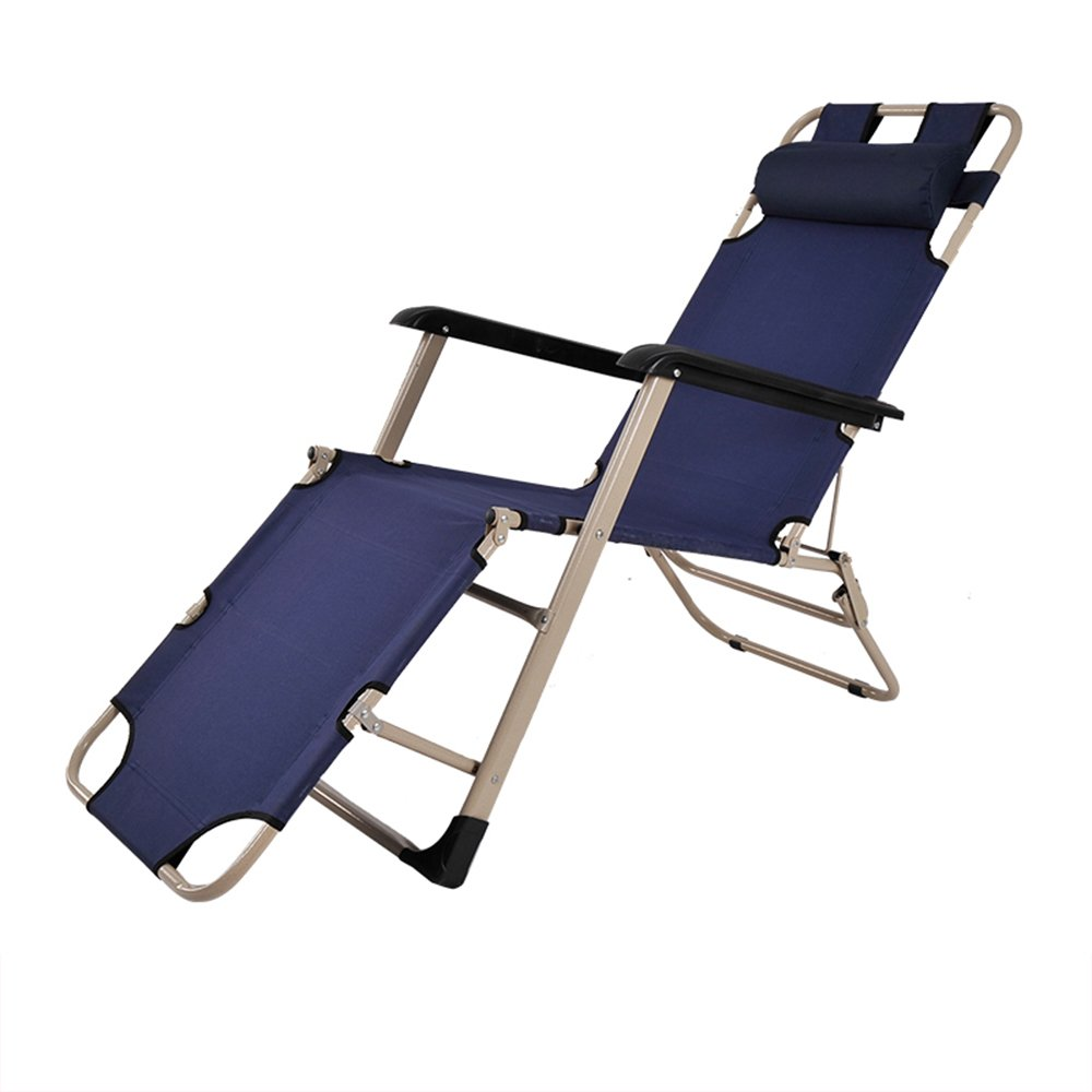 Folding bed / Folding chair / Lunch bed / Office bed / Camp bed / Reinforced beach chair / Reinforced pipe Folding chair / Three color optional chair / Single-tube rocking chair ( Color : A )
