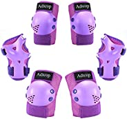 Kids Knee Pads Elbow Pads Guards for 3-8 Years Old Boys Girls 3 in 1 Kids Protective Gear Set for Skating Cycl