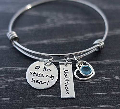 Stole My Heart Birthstone Bracelet