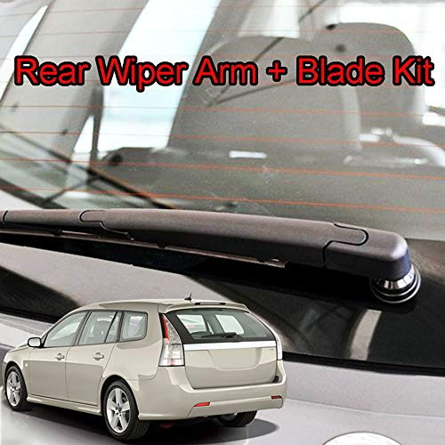 - Xukey Rear Windshield Wiper Blade & Arm Set Fit For SAAB 9-3/9.3 Estate Wagon 2003-2012 (1 set)