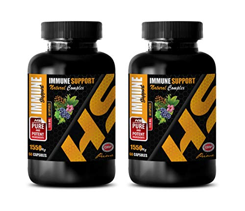 antioxidant and Immunity Booster – Immune Support Formula – Natural Herbs and Vitamins – Extreme ANTIOXIDANTS – Olive Leaf Extract Pills – 2 Bottle (120 Capsules)
