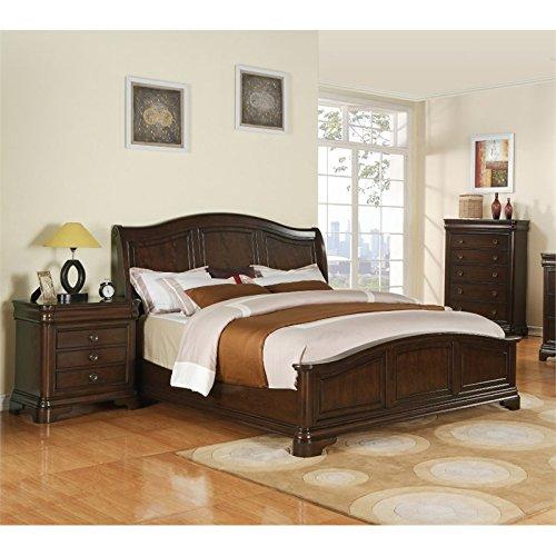 Picket House Furnishings Conley 3 Piece Queen Bedroom Set in Cherry (3 Furniture Piece Bedroom Set)