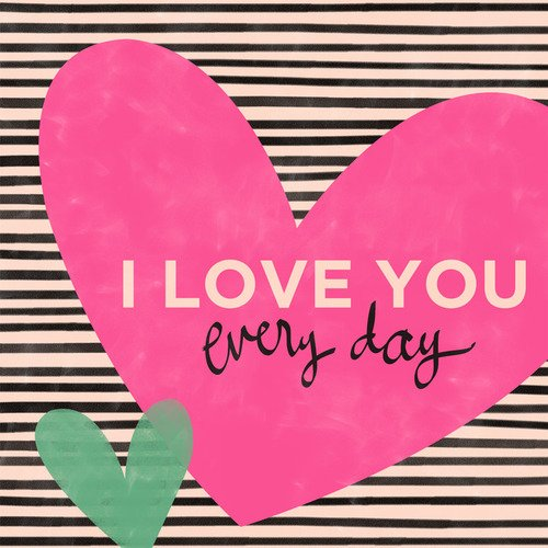 Oopsy Daisy I Love You Everyday by Ampersand Design Studio Canvas Wall Art, 18 by 18-Inch by Oopsy Daisy