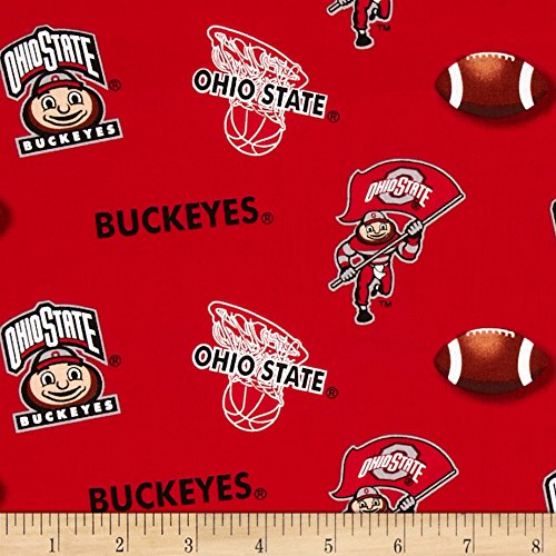 - Sykel Enterprises Collegiate Cotton Broadcloth Ohio State University Fabric by The Yard