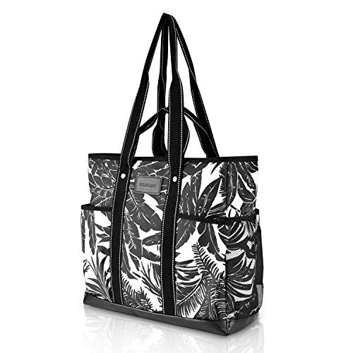 Canvas Tote Bag Utility Teacher Tote Bag Handbag Shoulder work Bag (Wave)