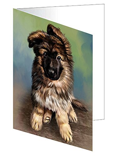 Amazoncom German Shepherd Puppy Dog Note Card 10 Home Kitchen
