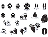 MozamyCreative Animal Tracks Wall Decals (18 Count) Kids Room Decor Removable Peel and Stick Wall Decals, Black