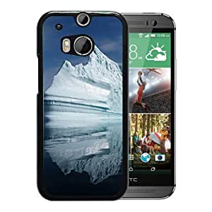 Unique DIY Designed Cover Case For HTC ONE M8 With Iceberg Iceland Nature Mobile Wallpaper Phone Case