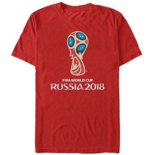 FIFA World Cup Russia 2018 Men's Classic Color Symbol Red T-Shirt,Large,Red