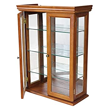 Design Toscano Glass Curio Cabinets - Country Tuscan - Wall Mounted Curio Cabinet
