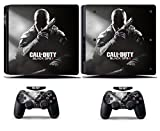 Cosines PS4 Slim Stickers Vinyl Decal Protective Console Skins Cover for Sony Playstation 4 Slim and 2 Controllers Call of Duty COD Black OPS 2