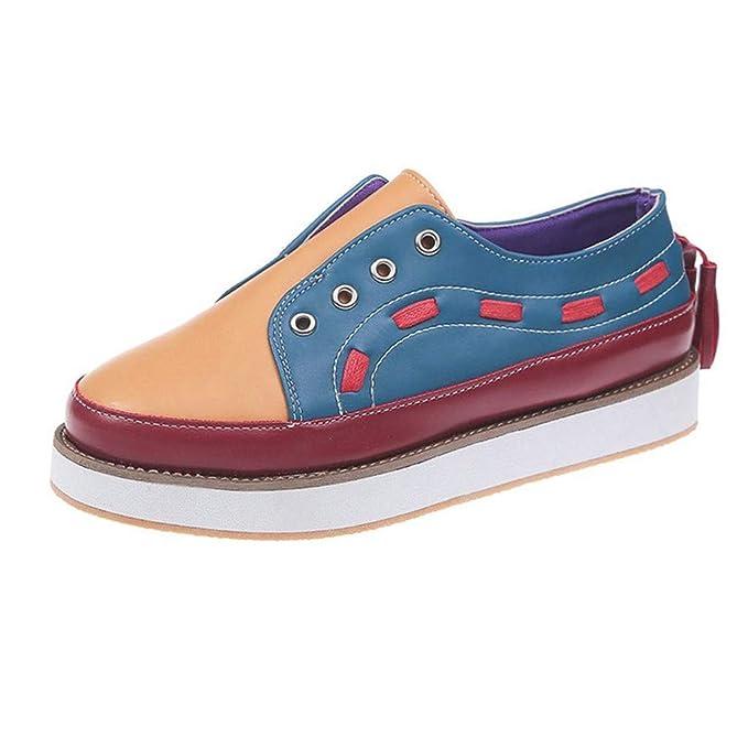 Amazon.com: TnaIolral Zapatos de las Mujeres de la Moda ...