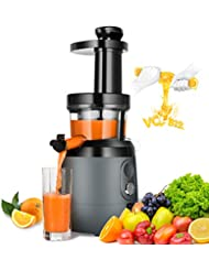 HAYKE Slow Masticating Juicer Extractor, Juicer with Quiet Motor and Brush to Clean Easily, Cold Press Vertical Juicer Machine for High Nutrient Fruits and Vagetables