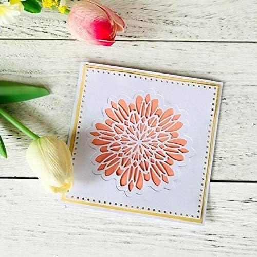 Multi Layered Floral Frame Dies Cut Flower Metal Cutting Dies Scrapbooking Paper
