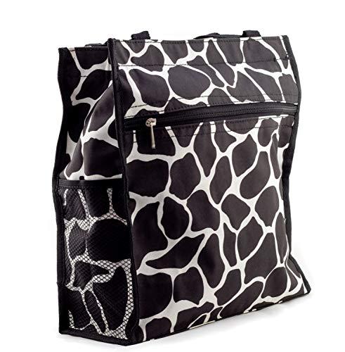 Uni Collections 12 Inch Travel Tote Bag (Giraffe Black -Black -