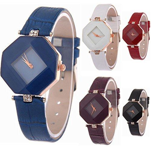 Yunanwa 5 Pack Women Ladies Watches Quartz Wristwatch Leather Wholesale Prism - Fashion Womens Wholesale