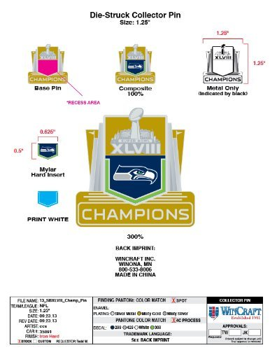 Seattle Seahawks 2014 Super Bowl Champions Collector Pin