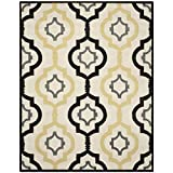 Safavieh Chatham Collection CHT747A Handmade Ivory and Multi Premium Wool Area Rug (5′ x 8′) For Sale