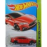 Hot Wheels 2015 HW Workshop Tesla Model S Vehicle 217/250, Long Card by Mattel