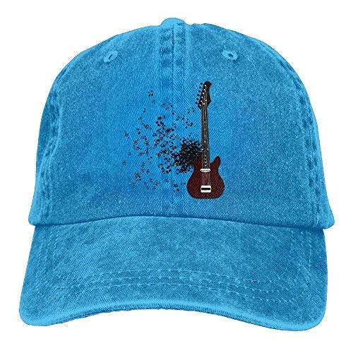 LFishera Guitar Denim Baseball Caps Hat Adjustable Cotton Sport Strap Cap for Men Women (Burton Cap Strap)