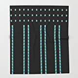 Society6 Teal Dance Throw Blankets 88'' x 104'' Blanket