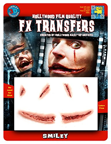 Tinsley Transfers  Smiley, Flesh/Multi, One (Halloween Clown Prosthetic Masks)