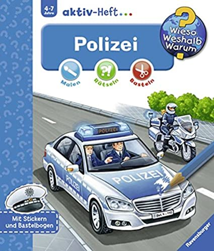 Weshalb Aktiv-Heft Polizei Ravensburger Wieso Warum