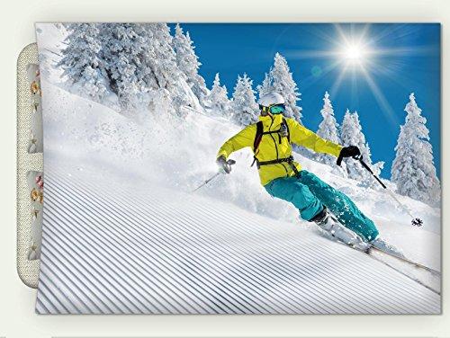 Minicoso Custom Flannel Throw Blanket Freeride in Fresh Powder Snow Skiing Autumn Winter Warm HD Digitals Print Blanketry, 71