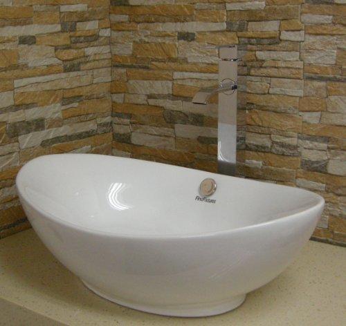 New Ceramic Modern Bathroom Vessel Sink by FINE FIXTURES by Fine Fixtures