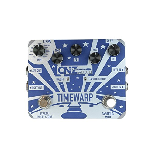 CNZ Audio Time Warp - Multi-Delay Guitar Effects Pedal, Dual Input & Output by CNZ Audio