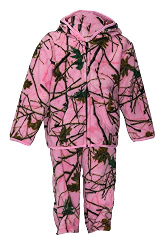 Trail Crest Toddler Camo Two Piece Fleece Jacket & Pants Set, 5T, Pink Camo by TrailCrest