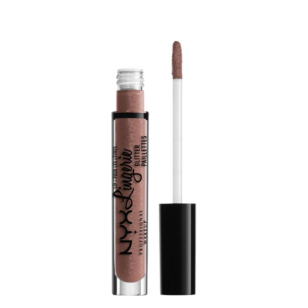 NYX PROFESSIONAL MAKEUP Lip Lingerie Glitter, Toffee Nude, 0.11 Ounce