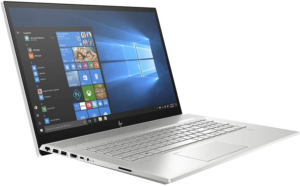 "HP Envy 17.3"" Touchscreen IPS FHD Laptop, i7-10510U up to 4.90 GHz, NVIDIA MX250 Graphics, 32GB RAM, 1TB SSD, USB-C/DP, Backlit, FP Reader, DVD-RW, RJ-45 Ethernet, Win 10 (Renewed)"