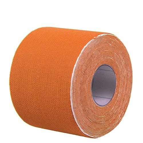 Supvox Athletic Tape Physio Ayuda terapéutica para las rodillas Apoyo muscular 500x2.5cm (naranja)