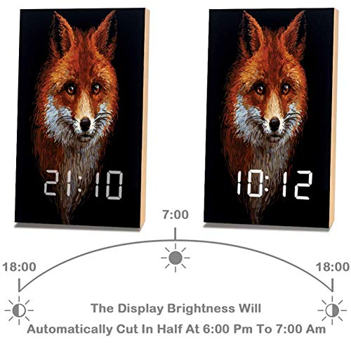 Amazon.com: Alarm Clock Red Fox LED Digital Desk Table Day ...
