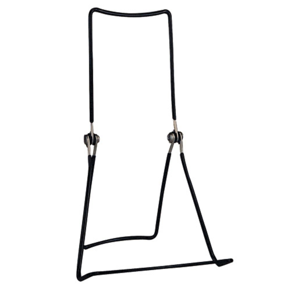 Gibson Holders 6 DCWB Adjustable Wire Display Easels - 5.5'' W x 8.75'' H w/ 1.5'' display ledge, Black